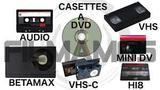 Cintas de cassette y vhs