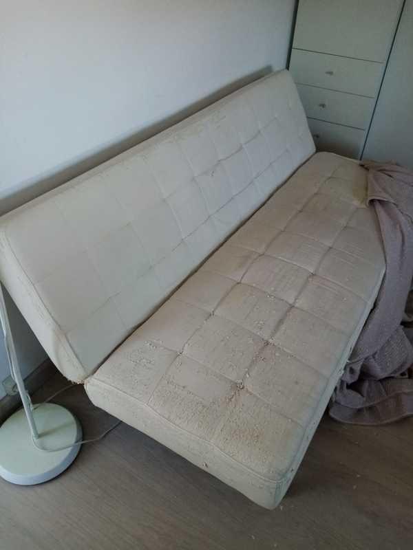 Sofá cama blanco