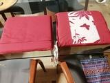 2 cojines cuadrados para silla