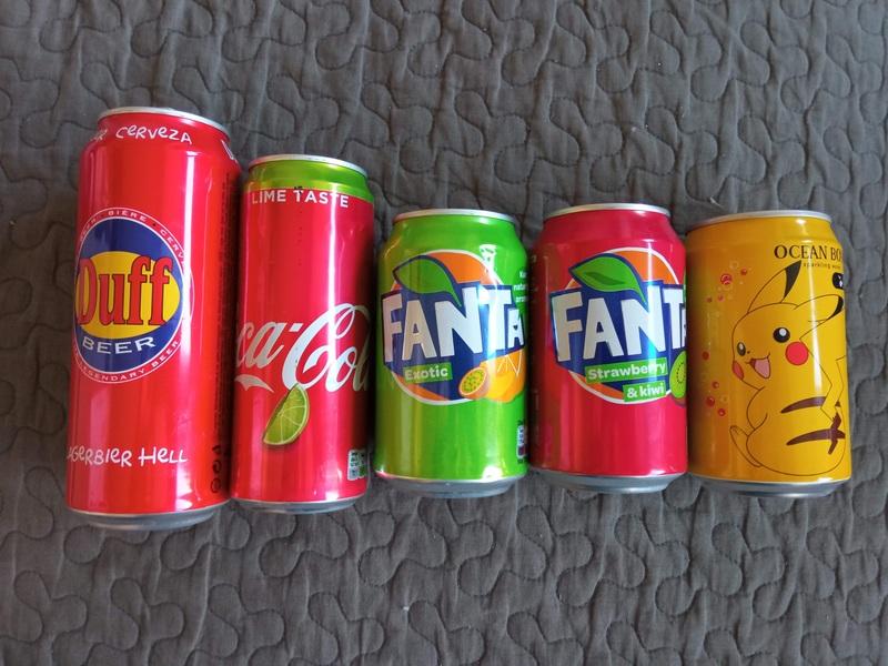 Lote de latas colección