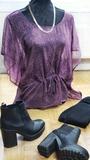 Blusa morada talla L / M