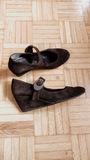 Zapatos/sandalias cuero con cuña 37