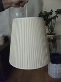 Pantalla lampara plisada IKEA, para techo