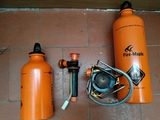Hornillo de gasolina para reparar