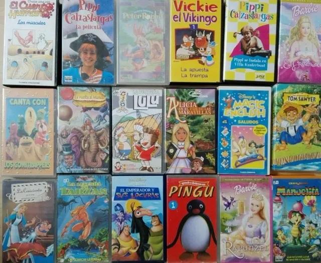 Cintas de video VHS infantiles