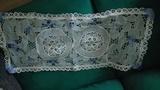 Pañito de adorno 11, rectangular y con adornos azules(nocris)