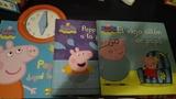 Tres libros de peppa pig