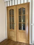 Doble puerta con cristal madera maciza