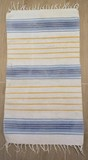 Alfombra IKEA - rayas azul/amarillo (51x100 cms)