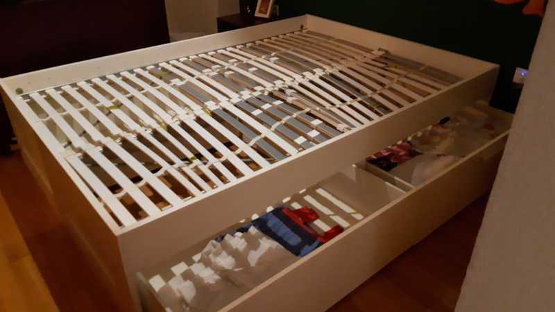 Estructura cama matrimonio blanca Ikea con cajones - SOLO HOY