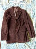 Chaqueta de pana marrón