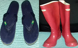 Duplex de botas de lluvia y Hawaianas brasileñas 36-37
