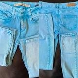 Pantalón skinny azul claro